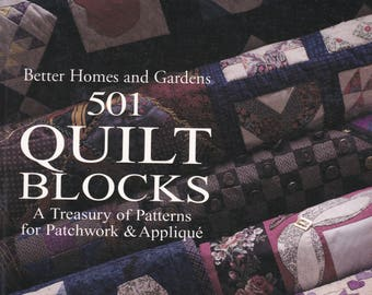 1994 Better Homes and Gardens 501 Quilt Blocks Patterns Patchwork Applique Quilting Sewing Sew Pattern