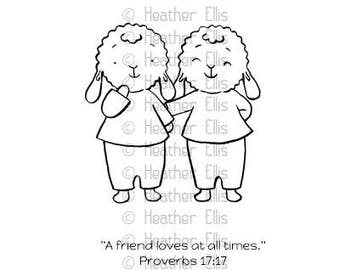 Lamb Rubber Stamp, Sheep, Paper Craft, Gift Ideas for Friend, Journaling stamps, journaling bible, Religious Gift Idea, Best friends gift