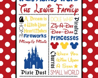 Personalized Walt Disney World Inspired Blanket