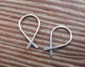 Minimalist Fish Earrings in Sterling Filled, Ichthys, Small