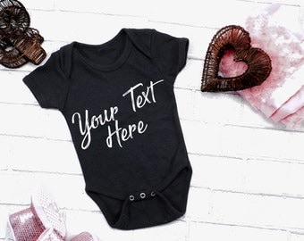 Custom Baby Onesie, Personalized Baby Onesie, Custom Baby Gift - Multiple Color options Available - O006