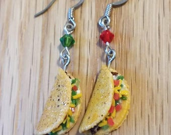 Taco Earrings Food Earrings Miniature Food Jewelry