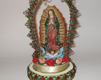 Our Lady of Guadalupe Shrine, Personal Alter, Handmade Religious Shrine