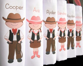 Cowboy cowgirl birthday party favors party tote goody bags hoedown western cowboy theme cowgirl birthday