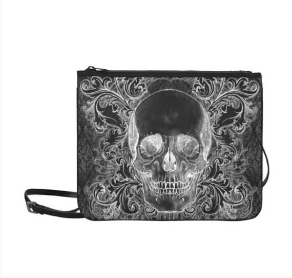 Baroque Skull Clutch with Shoulder Strap