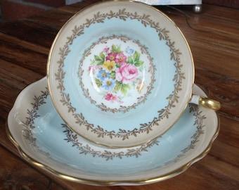 Foley English Bone China Floral Teacup & Saucer