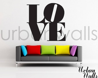 Vinyl Wall Sticker Decal, All You Need Is LOVE