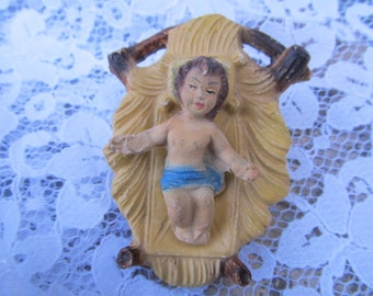 Antique Baby Jesus with removable Manger Nativity-Christmas Holiday
