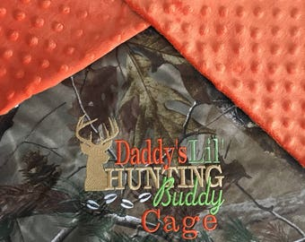 Personalized Camo Baby Boy Infant Newborn Real Tree Mossy Oak Hunting Real TreeMax5 Home Coming Monogrammed Minky Blanket