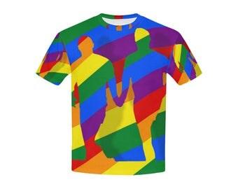 Love is Love! Kids T-Shirt | Bright Rainbow Print Tee | LGBTIQ Pride | Size XS S M L XL | Boys Girls Easy Fit Top | Unique Designer Fashion