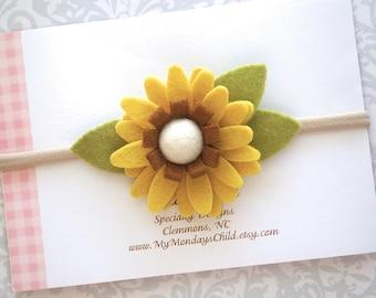 Fall Baby Headband, Fall Headband, Sunflower Headband, Felt Flower Headband,Baby Flower Headband, Baby Headband, Toddler Headband, Baby Girl