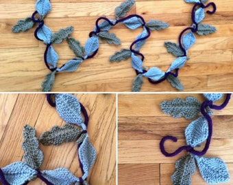 Oak Leaves Garland - Knitting PATTERN - Great for the Advanced Beginner or Better