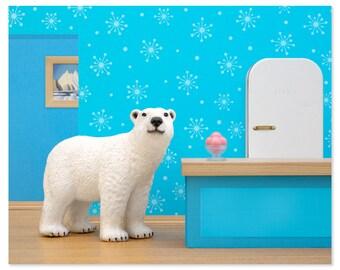 Polar bear animal art print: Some Like It Cold