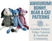 Amigurumi Bunny, Bear and...