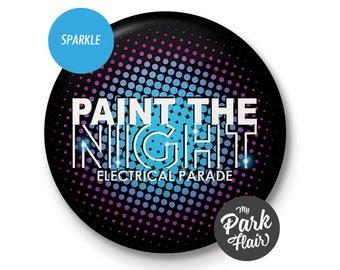 "3"" Paint the Night, Sparkle finish disney button"