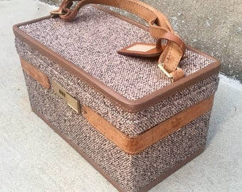 Vintage Hartmann Luggage Tweed Train Case