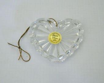 Princess House Lead Crystal Heart Ornament