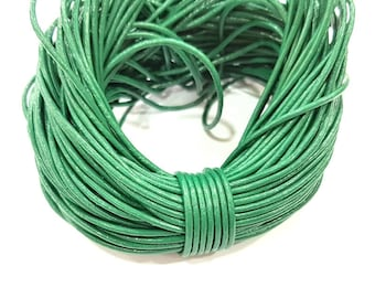 Leather Green Cord 1mt-3.3 ft (1.5mm) Round Leather Lacing G7981