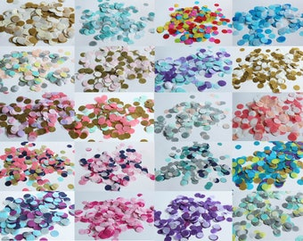 "Custom Color Tissue Confetti 3/4"" Circle Choose your colors or select one of our mixes"