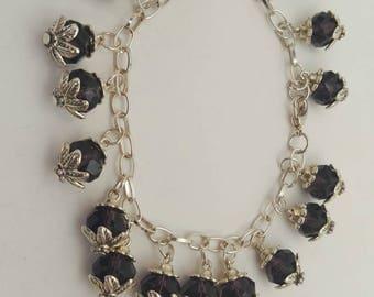 Sparkling Deep Purple Crystal Bracelet