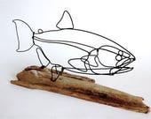 Salmon Wire Sculpture