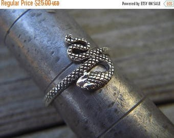 ON SALE Snake ring in sterling silver