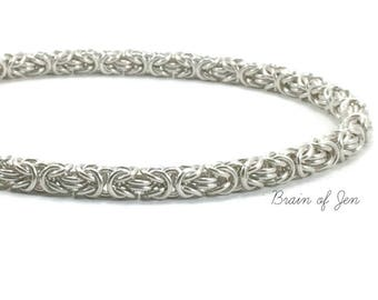 Silver Chainmaille Collar with Butterfly Heart Lock RESERVED