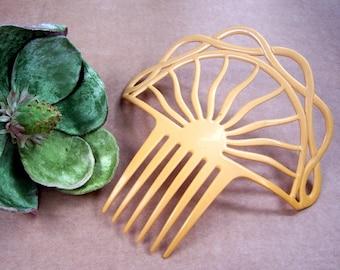 Art Deco Spanish style hair comb celluloid French Ivory hair accessory headdress headpiece decorative comb