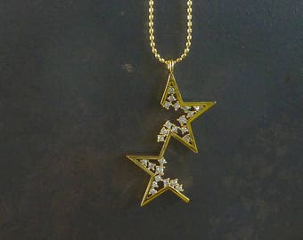 Star Crossed. Gold Star Necklace. layering necklace. modern necklace. star necklace. delicate necklace. dainty necklace.