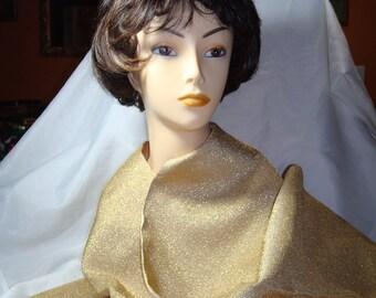 1960s GOLD LAME Evening Wear Wrap Stole.