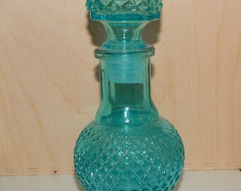 "Art Deco Style Perfume Glass Bottle 5"" Tall"
