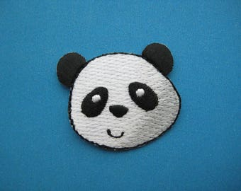 SO Cute~ Iron-on Embroidered Patch Panda 1.5 inch