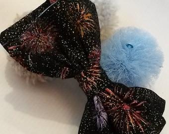 Fireworks Hair Bow - large