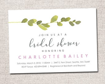 bridal shower invitation bridal shower invite modern bridal shower invitation bridal shower