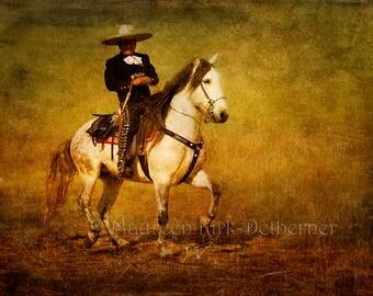 Mexican folk art, Mexican decor, restaurant, horse wall art large, Andalusian horse, horse decor, Andalusian, southwestern decor, canvas art