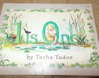 "Vintage childrens book 1956 ""1 is one"""" by tasha tudor"