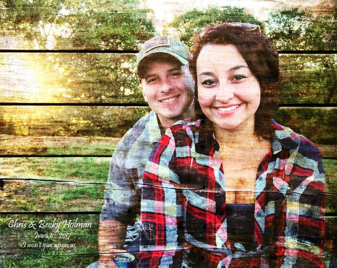 Couple Portrait Gift For Couple Rustic Home Decor  Family Portrait Custom Wood Anniversary Gift Bedroom Wall Art Home Decor Wall Decor 16x20