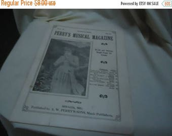 Ephemera & Books 50% Sale Vintage 1923 Perry's Musical Magazine Sheet Music, March, no 12, collectable