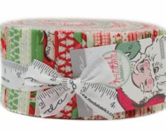 Swell Christmas Jelly Roll by Urban Chiks for Moda Fabrics