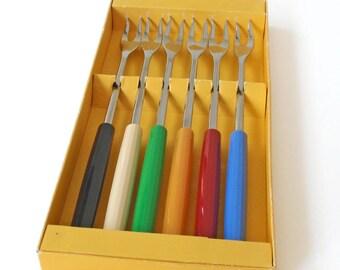 Vintage Wenger Inox Fondue Forks Swiss Made