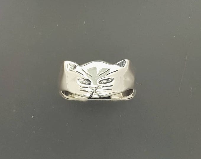 Sterling Silver Adjustable Cat Ring
