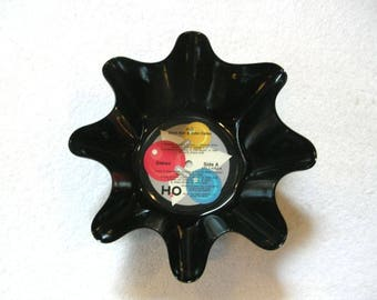 Hall And Oates Record Bowl Made From Vinyl Album