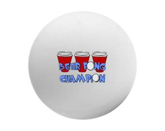 Personalized Ping Pong Balls, Customized Beer  Pong Ball, Table Tennis Ball, Novelty Pong Ball, Beer Pong Champion Pong Ball