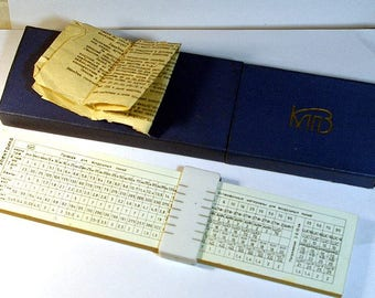 1970th Vintage USSR Very rare electrician Slide Rule in Case