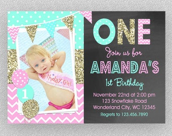 Circus Birthday Invitation 1st Birthday Circus Party