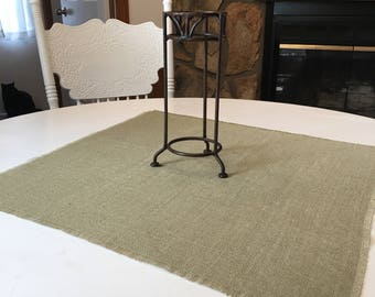 Sage Burlap Table Squares-Burlap Table Covers-Select Your Size and Amount Needed-Rustic Burlap Squares