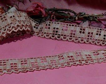 Antique Lace Vintage Trim 1920s Cotton Italian