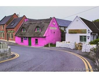 "Fine Art Color Travel Photography of Village of Doolin in Ireland - ""Road in Doolin"""
