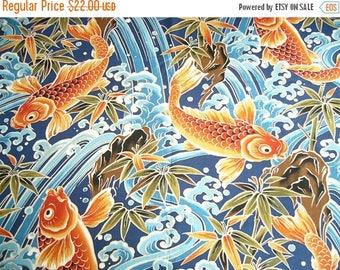 Koi fabric etsy for Koi fish print fabric