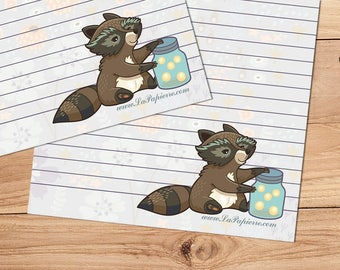 Rocco the Raccoon - A5 Stationery - 12, 24 or 48 sheets